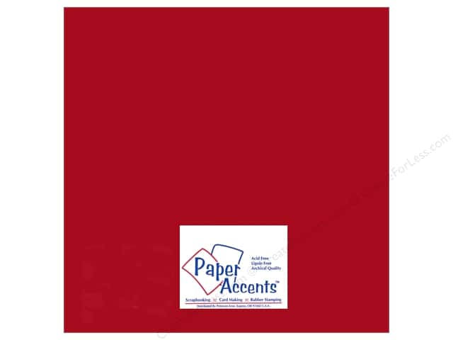 Paper Accents Adhesive Vinyl 12 x 12 in. Removable Matte Red (12 sheets)