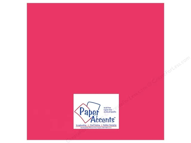 Paper Accents Adhesive Vinyl 12 x 12 in. Removable Matte Pink (12 sheets)