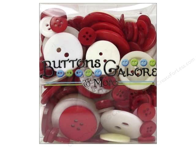 Buttons Galore Button Totes 3.5 oz. Red & White