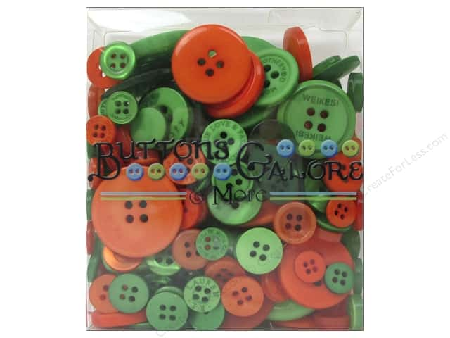 Buttons Galore Button Totes 3.5 oz. Green & Orange