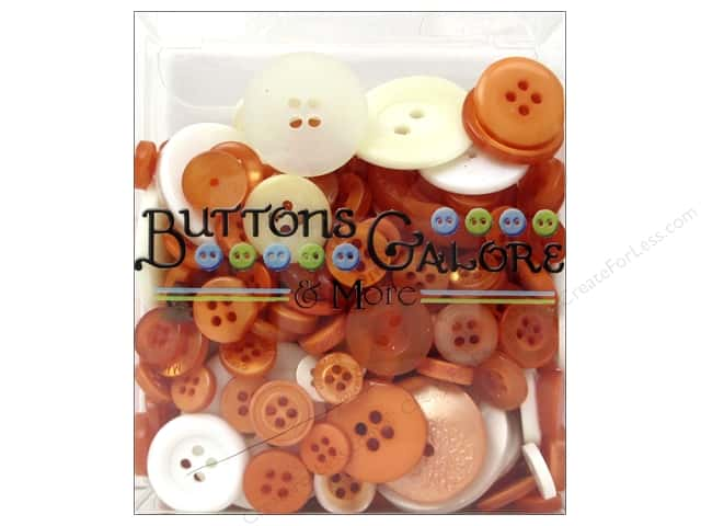 Buttons Galore Button Totes 3.5 oz. Orange & White