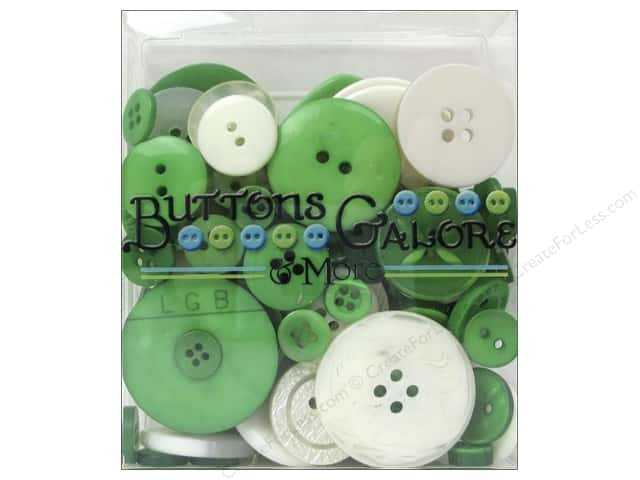 Buttons Galore Button Totes 3.5 oz. Green & White