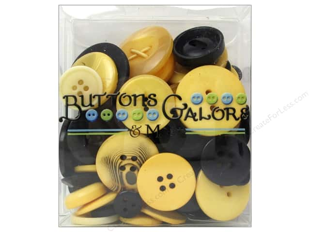Buttons Galore Button Totes 3.5 oz. Gold & Black