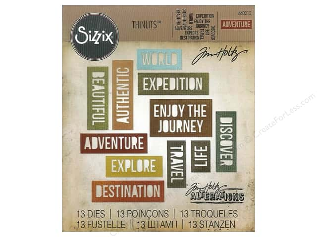 Sizzix Thinlits Die Set 13 pc. Adventure Words: Block