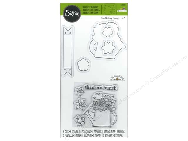 Sizzix Framelits Die Stamp Thanks A Bunch by Doodlebug