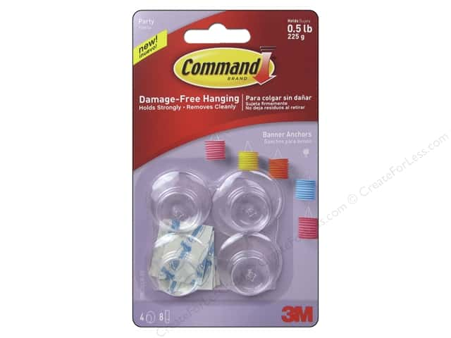 Command Adhesive Hook Party Banner Anchor 4pc