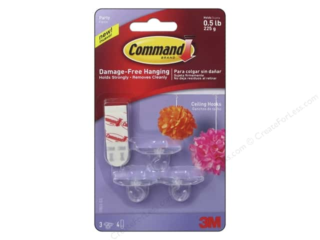 Command Adhesive Hook Party Ceiling 3pc