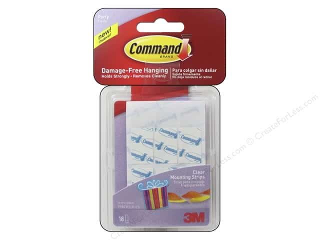 Command Adhesive Replacement Strips Party Small 18pc