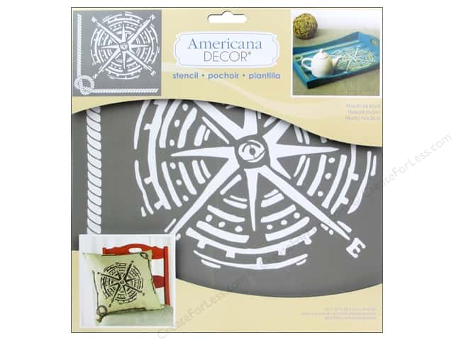 DecoArt Stencil 12 x 12 in. Nautical Knot -- CreateForLess