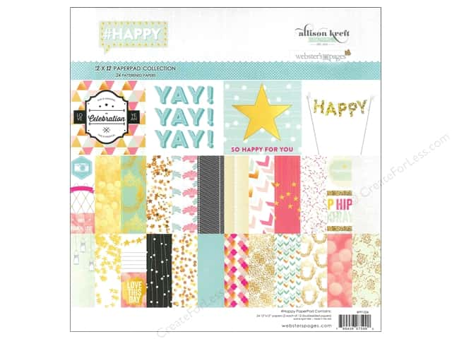 Webster's Pages 12 x 12 in. Paper Pad Allison Kreft Happy