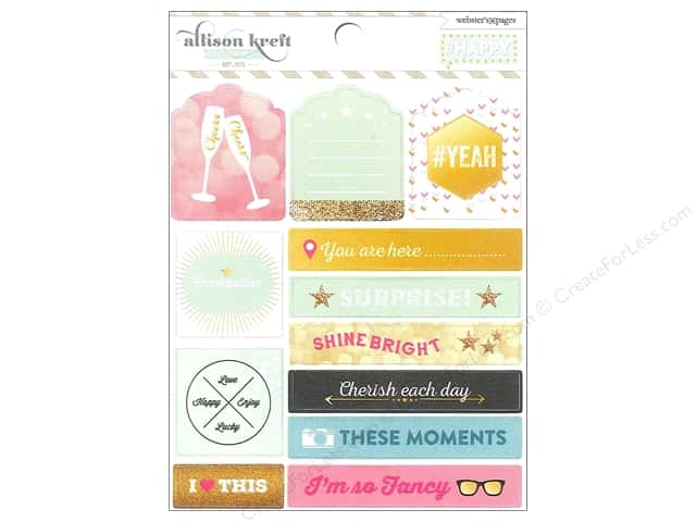 Webster's Pages Sticker Allison Kreft Happy Tag & Prompt