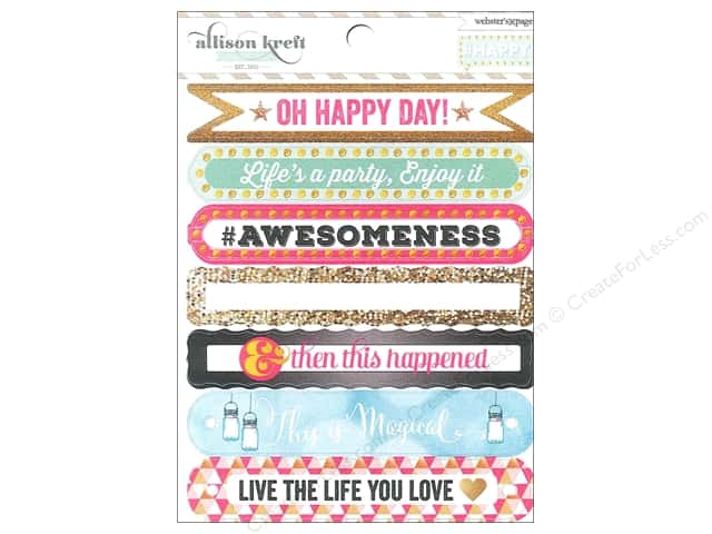 Webster's Pages Sticker Allison Kreft Happy Sentiment