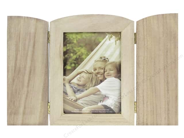 """Multicraft Wood Picture Frame Tri Fold 5""""x 7.4"""""""