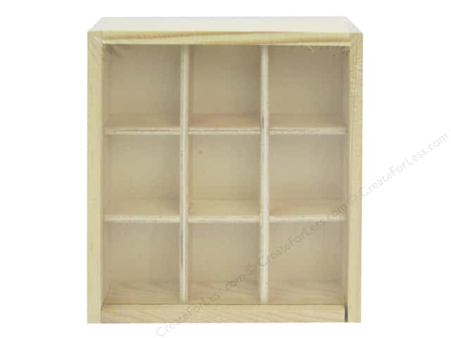 Multicraft Wood Shadowbox 9 Compartments