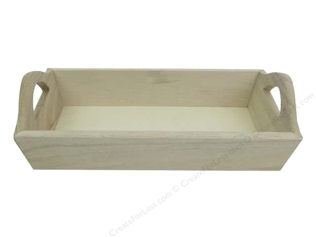 Multicraft Wood Small Tray With Handles