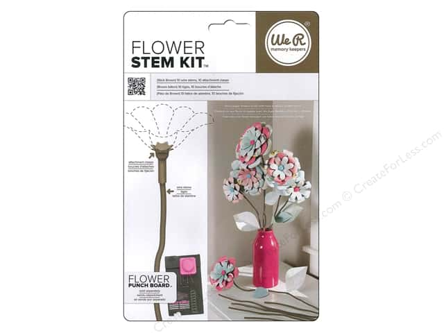We R Memory Kits Flower Stem Stick Brown
