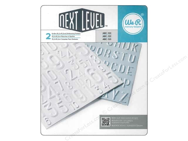 We R Memory Keepers Embossing Folders ABC 123