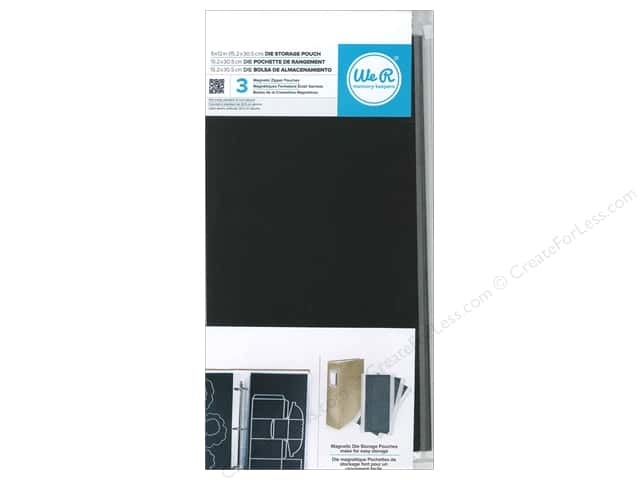 We R Memory Keepers Die Storage Pouch 6 x 12 in. 3 pc.