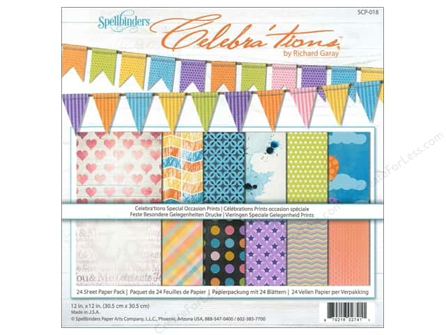 "Spellbinders Paper Pack 12""x 12"" Celebra'tions Special Occasions"