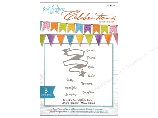 Spellbinders Stamp Celebra'tions Beautiful Friend