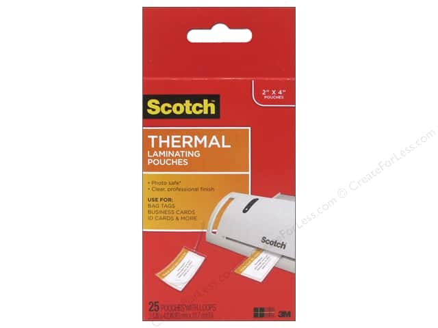 Scotch Laminating Pouch Thermal Luggage Tags 25pc