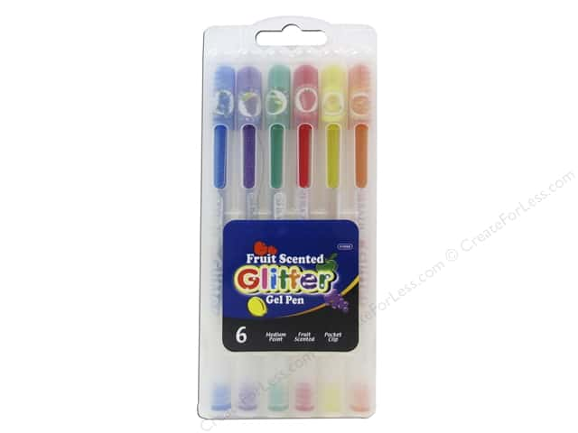 Bazic Basics Glitter Gel Pens 6 pc. Fruit Scented