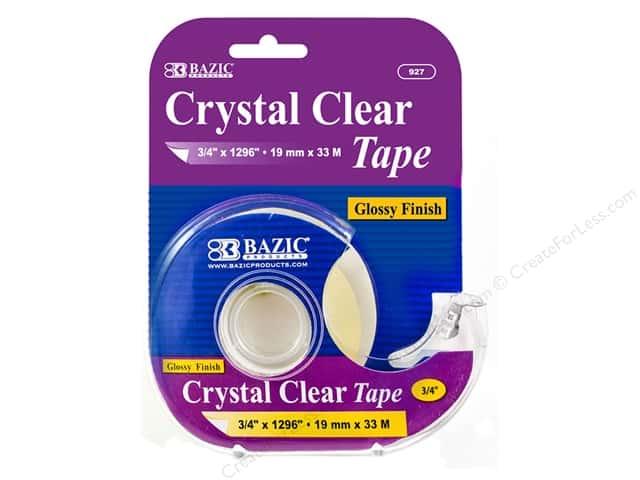 Bazic Basics Clear Tape With Dispenser 3/4 x 1296 in.