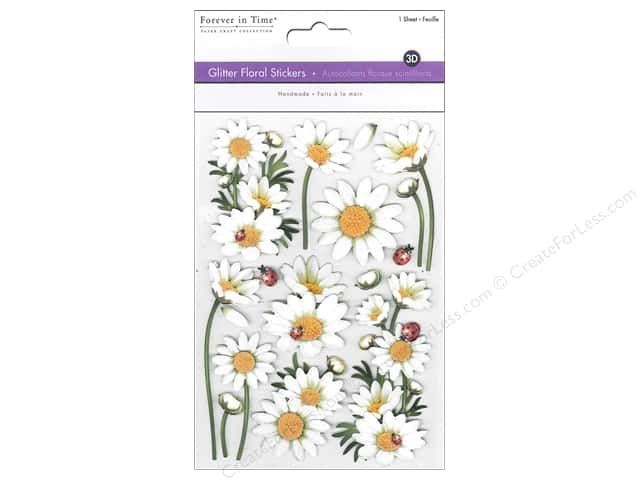Multicraft Sticker Glitter 3D Floral Daisies