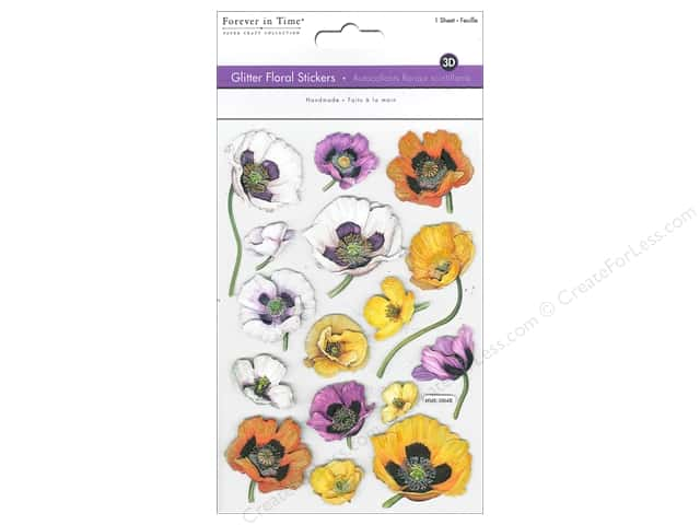 Multicraft Sticker Glitter 3D Floral Pansies