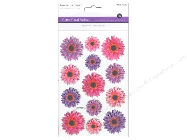 Multicraft Sticker Glitter 3D Floral Ball Mums