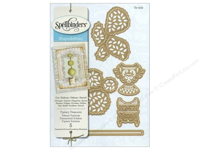 Spellbinders Shapeabilities Die Topiary Treasures