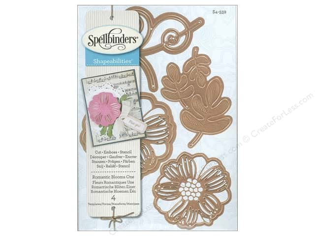 Spellbinders Shapeabilities Die Romantic Blooms 1