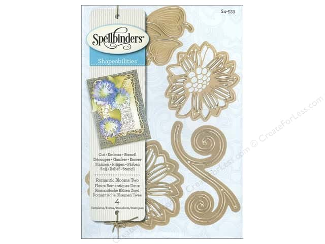 Spellbinders Shapeabilities Die Romantic Blooms 2