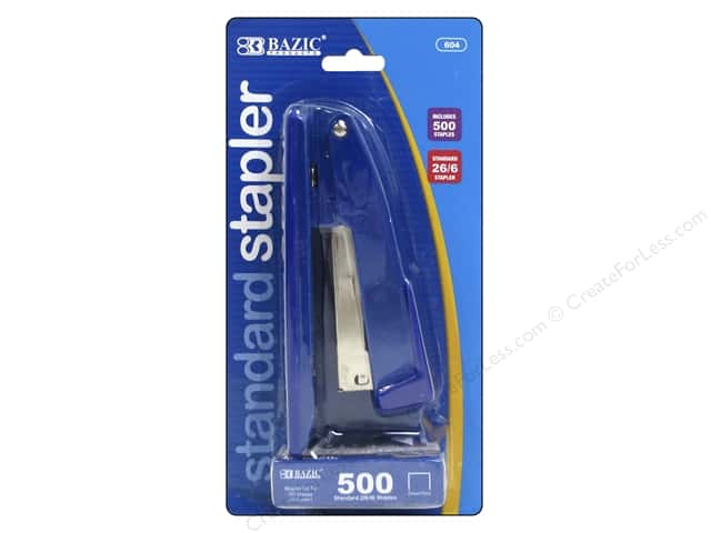 Bazic Basics Standard Metal Stapler with 500 Staples
