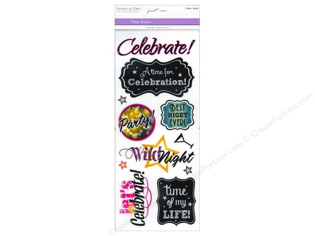 Multicraft Sticker Clear Celebrate!