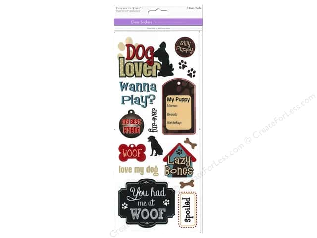 Multicraft Sticker Clear Dog Lover
