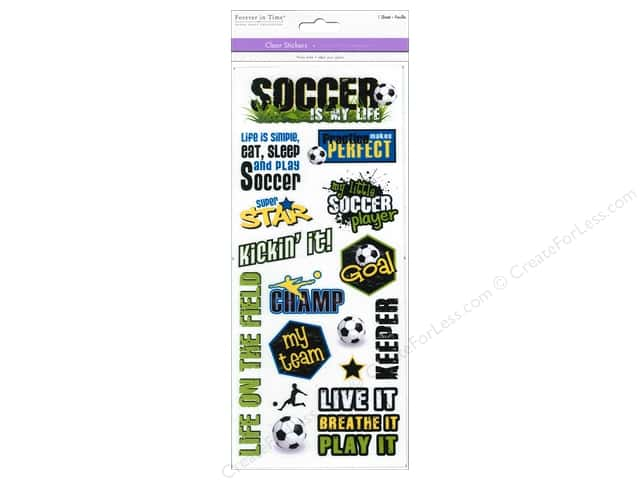 Multicraft Sticker Clear Soccer Fun