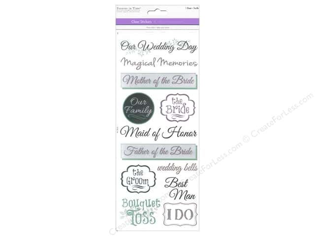 Multicraft Sticker Clear Wedding 2