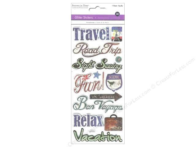 Multicraft Sticker Glitter 3D Travel