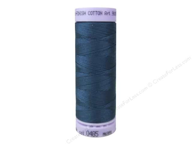 Mettler Silk Finish Cotton Thread 50 wt. 164 yd. #0485 Tartan Blue