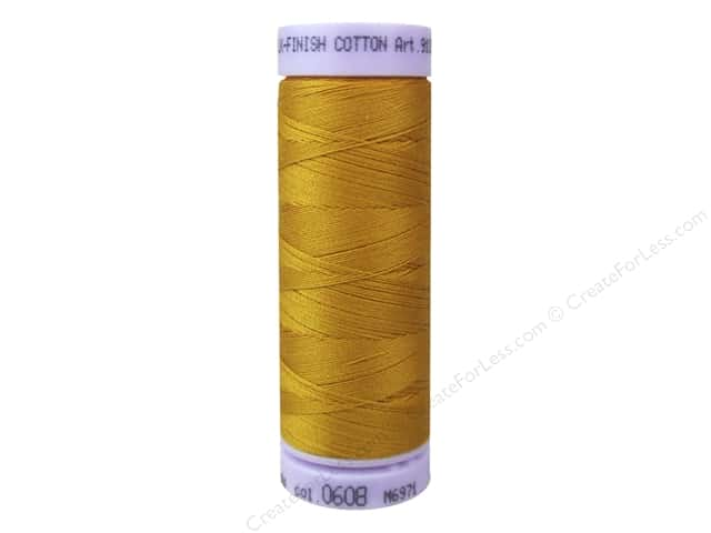 Mettler Silk Finish Cotton Thread 50 wt. 164 yd. #0608 Sunflower