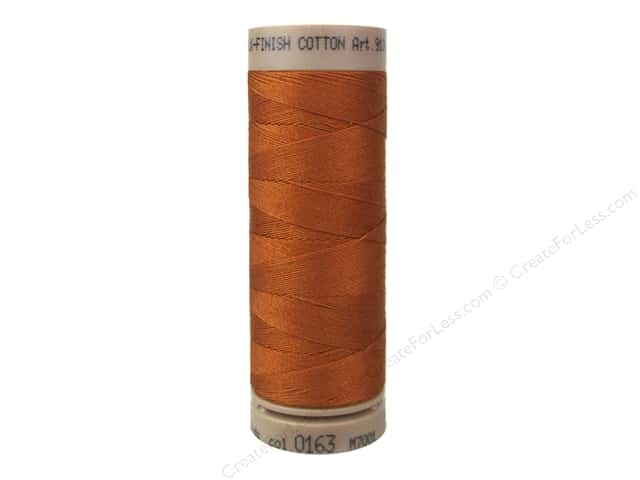 Mettler Silk Finish Cotton Thread 40 wt. 164 yd. #0163 Copper