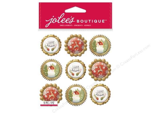 Jolee's Boutique Stickers Repeats Holiday Icon Baubles
