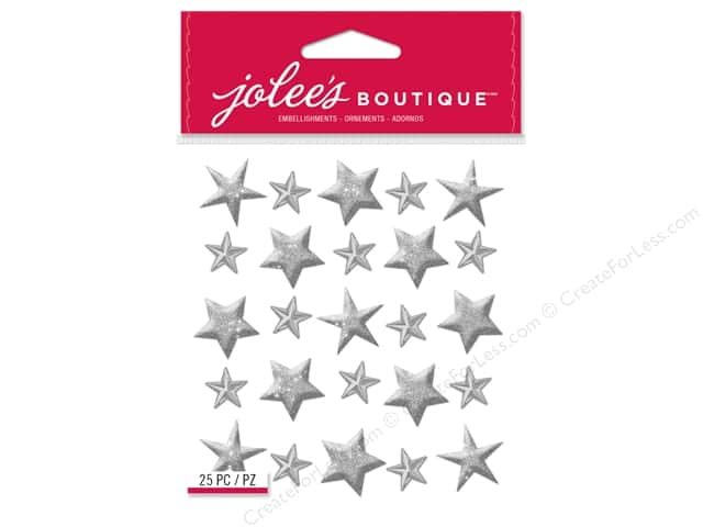 Jolee's Boutique Stickers Repeats Silver Stars