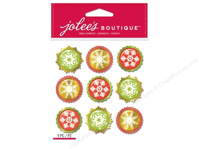 Jolee's Boutique Stickers Repeats Snowflakes Baubles