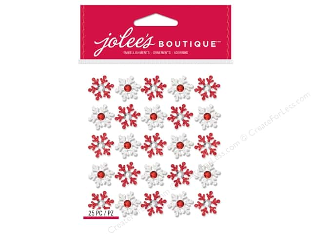 Jolee's Boutique Stickers Repeats Snowflakes Red/White