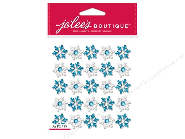Jolee's Boutique Stickers Repeats Snowflakes Blue/White