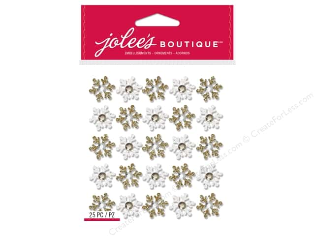 Jolee's Boutique Stickers Repeats Snowflakes Gold/White