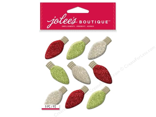 EK Jolee's Boutique Embellishment Repeats Christmas Bulbs