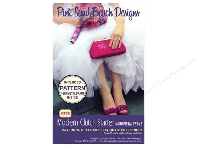 Pink Sand Beach Designs Modern Clutch Pattern With Gunmetal Frame